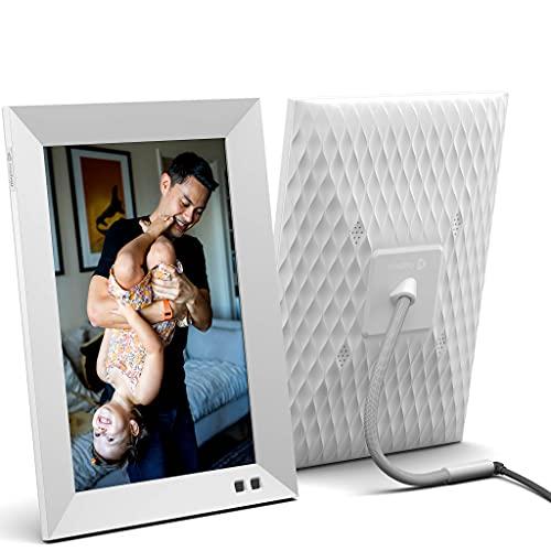 Nixplay Marco Digital Inteligente 10 Pulgadas, Blanco, comparta Videoclips y Fotos al Instante a...