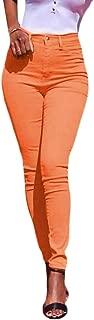Macondoo Womens High Waist Solid Skinny Casual Stretchy Basic Pants