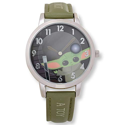 Star Wars- Green Band- Silver Watch, Black Face, Quartz Watch
