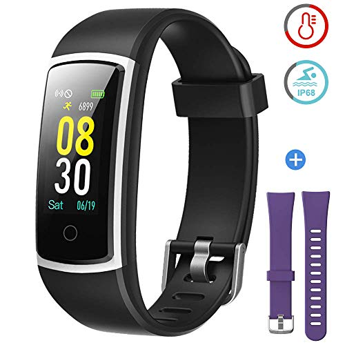 top 10 fitness tracker for weight watchers Blood pressure tracker, heart rate monitor, fitness tracker with waterproof IP68 YAMAY…
