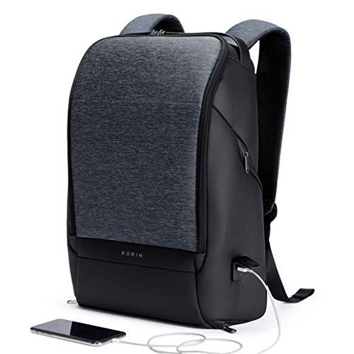KORIN Design FlexPack Pro - Multifunktionale Flexibilität Diebstahlsicherer Reiserucksack 15,6-Zoll-Laptoptasche mit 2,0-USB-Ladeanschluss Große Kapazität Wasserdichter TSA für Business Arbeit Schule