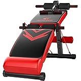 W.KING Red Pieghevole Sit Up Bench Slant Board AB, Allenamento Regolabile Addominale Esercizio...