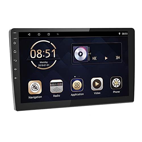 Radio Coche Bluetooth 2 DIN - Autoradio Coche con 10.1' Pantalla Táctil MP3 MP5 Multimedia Player con GPS, Manos Libres, USB, Radio FM, Enlace de Espejo, Dual USB,10.1inch