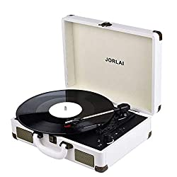 professional JORLAI player Vinyl record player and Bluetooth 3 speed vintage record player and stereo …