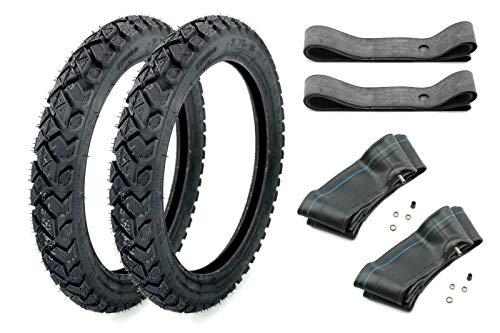 SET 2x Heidenau Enduro M/C Reifen 2,75 x 16 Zoll, 46M TT Profil K42 inklusive 2x Felgenband und 2x Schlauch für Simson