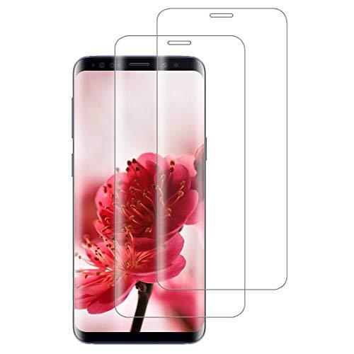 XSWO [2 Pièces Verre Trempé Galaxy S9, Vitre Protection Samsung S9 [3D Couverture Complète] [Pose Facile] [Dureté 9H] [sans Bulles] Film Protection d'écran Samsung Galaxy S9