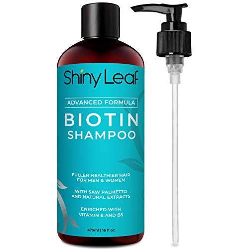 Biotin Shampoo For Hair Growth With DHT Blockers, Sulfate-Free, Paraben-Free, Thickening Shampoo, For Thicker and Fuller Hair, Hair Loss Shampoo, For Men and Women
