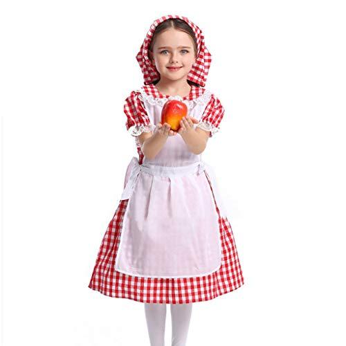 Costume d'Oktoberfest pour femme 'fille', robe bavaroise allemande bavaroise, tablier de robe de fille de bière a, costume enfant, costume de sorcière, costume d'Halloween, femme de chambre Outfi A S