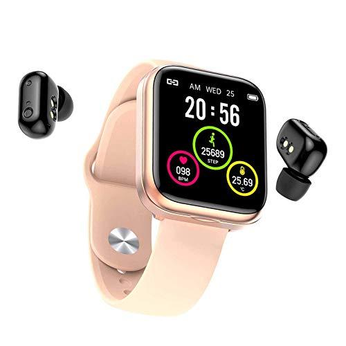 TIANYOU Smart Watch, Pantalla de Color Táctil Completa de 1.54 Pulgadas, Combo de Reloj Auricular Bluetooth, Pulsera de Monitoreo de Salud a Prueba de Agua Ip67 Regalo de vacaciones