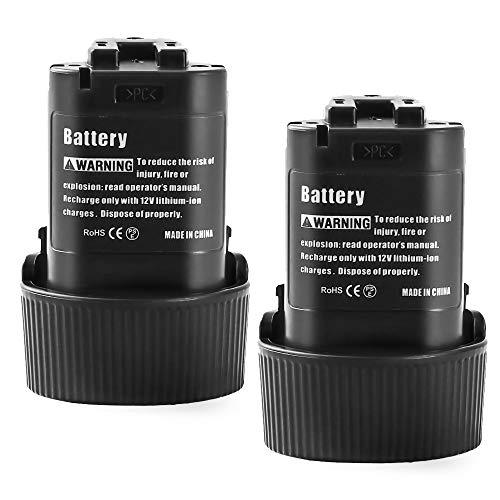 2X Dosctt 3000mAh Batería Reemplazo para Makita 10,8V 3,0Ah Repuesto Pilas BL1013 BL1014 194550-6 194551-4 DF030DW DF030D DF030DWX DF330D TD090D TD090DWE TD090DWX