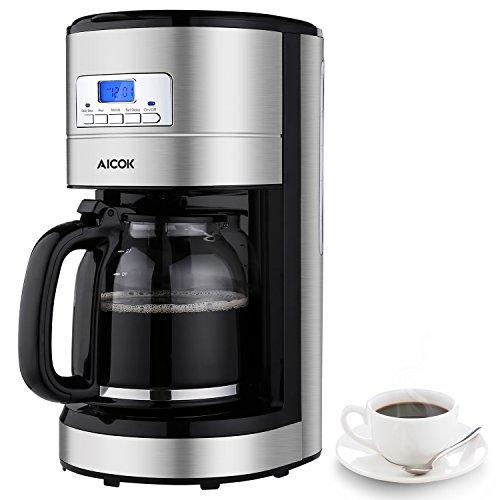 Aicok Cafetière Electrique Isotherme en Inox,...