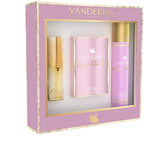 Gloria Vanderbilt - Coffret Eau de Toilette 30 ml - Spray Déodorant 150 ml - Vaporisateur de Sac 15 ml