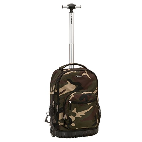 Rockland Luggage 19 Inch Rolling Backpack Printed, Camo