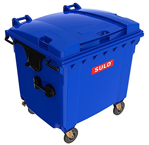 Mülltonne MGB 1100 Liter, 4-Rad-Behälter mit Flachdeckel (Blau)