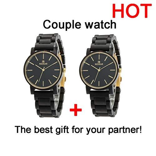 Orologio da uomo Ebony Watch: Reloj Deportivo Industrial de Cuarzo de Alta Gama, Hecho a Mano, Saludable, Puede traer Buena Suerte, Romance, for un Socio (Color : Men+Women)