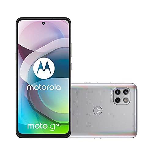 Smartphone Moto G 5G Prata Prisma, com Tela 6,7', 5G, 128GB e Câmera Tripla de 48MP