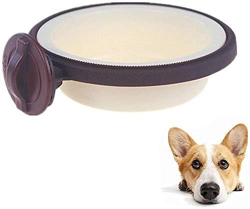 Perro agua de la taza del perrito de pequeños cuencos cuencos for su comida for perros gato del gato tazones de plástico Alimentación del cajón Dog Food Bowl Comedero rosa del perro de agua de la taza