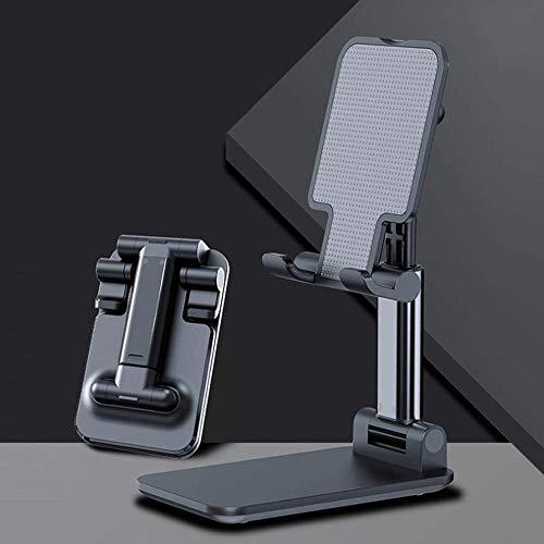 NOBRAND Soporte para teléfono móvil Soporte para teléfono móvil de Escritorio Soporte Plano de aleación de Aluminio Soporte Superior de Mesa Soporte Plegable de Metal telescópico Zafiro