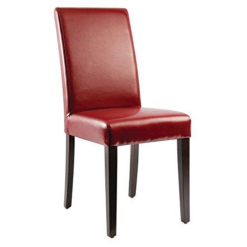 Bolero gh443piel sintética silla de comedor, rojo (Pack de 2)