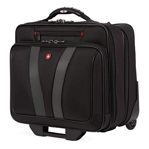 Wenger Luggage Granada Pro Padded Wheeled Laptop Bag with Pass-Thru, Black, 15.6-inch