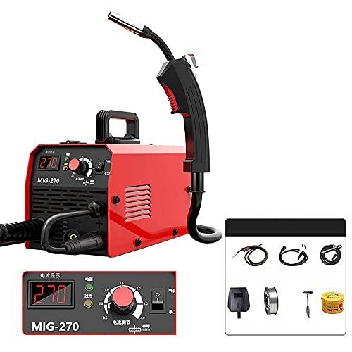 Soldadora eléctrica multifunción, soldadora de gas, soldadora sin gas CO² doméstica, con pantalla digital, pequeña, equipo y accesorios para soldadura profesional Welding