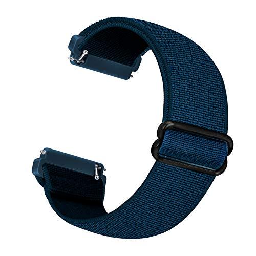 Cinturino di ricambio elastico Cuteeze compatibile con cinturino Fitbit Versa / cinturino Fitbit Versa 2, cinghie di ricambio in nylon morbido per Fitbit Versa 2 / Versa / Versa Lite (Blu Reale)