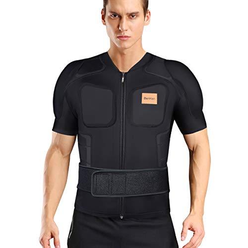 BenKen Skiing Body Short Protector Schutzausrüstung Pad mit Futter Motor Brust Schulter Rückenschutz verstellbare Jacke Damen Herren Obermaterial Gepolsterte (S)
