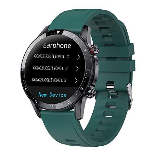 Relojes de pulsera Reloj Inteligente, Puertos Reloj para Hombres Mujeres Reloj Digital Fitness con Calorías Escalonadas, Relojes Inteligentes para Teléfonos IPhone Android watches ( Color : Green )