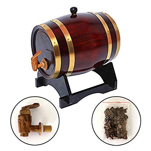 JFZCBXD Oak Barrel ZuhauseBrew Druck Fass Rum Hot Sauce und mehr Holz-Wein-Fass, für Bier Whisky Rum Hafen Keg Lagerung,1.5L