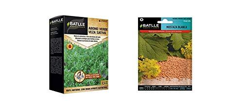 Semillas Batlle Abonos Ecológicos Verde Veza Caja 1,5Kg + Aromáticas Mostaza Blanca