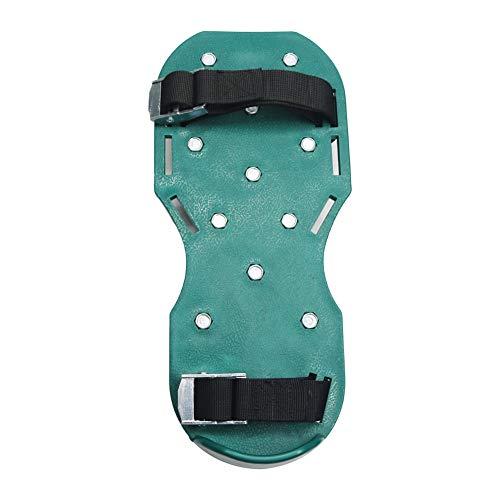 NYXUAN Aireador de césped con punta de pinza, sandalias de ejercicio de césped resistentes, zapatos de uñas sueltos para suelos sueltos de tamaño universal para zapatos o botas para patio de césped