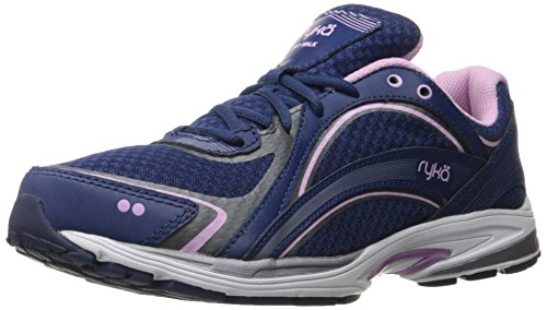 Ryka womens Sky Walking Shoe, Navy/Lilac, 7.5 US