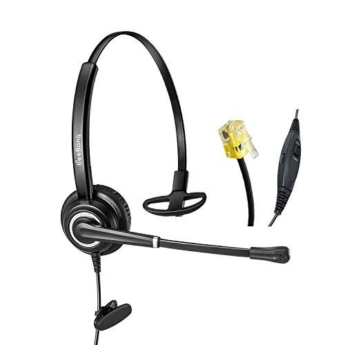 Beebang Monoaural teléfono para Auriculares con reducción de Ruido del micrófono Sólo para teléfono IP de Cisco