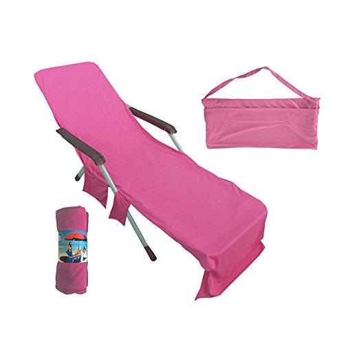 Viitech Cooling Lounge - Funda para silla de microfibra (82 × 28), toalla de playa fresca con bolsillo oculto, para piscina, yoga, viajes, vacaciones, tomar el sol