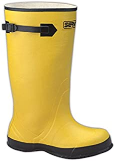 """Magid Glove & Safety B1548-8 Magid 17"""" Rubber Over Boots, X-Large, Yellow, 8"""
