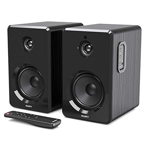 Majority D40 Aktives und kabelloses Bluetooth Lautsprecher Paar mit Verstärker, Boxen ideal für Heimkino, Gaming, Laptops, Desktop, und Computer, klein und kabellos