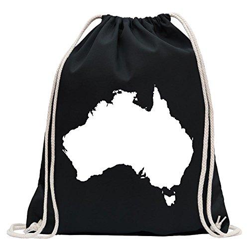 Kiwistar - Australien - Canberra Turnbeutel Fun Rucksack Sport Beutel Gymsack Baumwolle mit Ziehgurt
