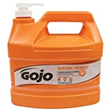 GOJO NATURAL ORANGE Pumice Industrial Hand Cleaner, 1 Gallon Quick...