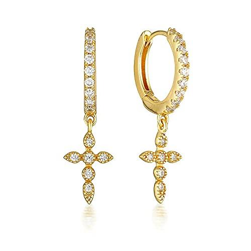 YFZCLYZAXET Pendientes Mujer Moda Casual Plata Pendientes Geométricos Moda Pendientes Damas-Oro