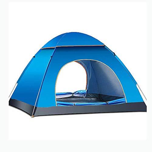 BYCDD Camping Zelte, Kuppelzelt Wasserdichtes Zelte mit feuchtigkeitsdichten Outdoor-Oxford-Tuch-Panorama-Dachfenster Zelten für Hinterhof,Blue