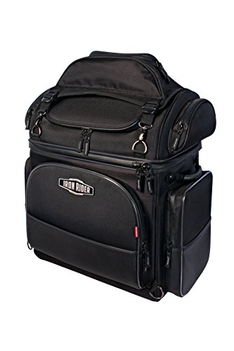 Dowco Iron Rider 04881 Water Resistant Reflective Brute Motorcycle Sissy Bar Bag: Black, Large, 58 Liter Capacity