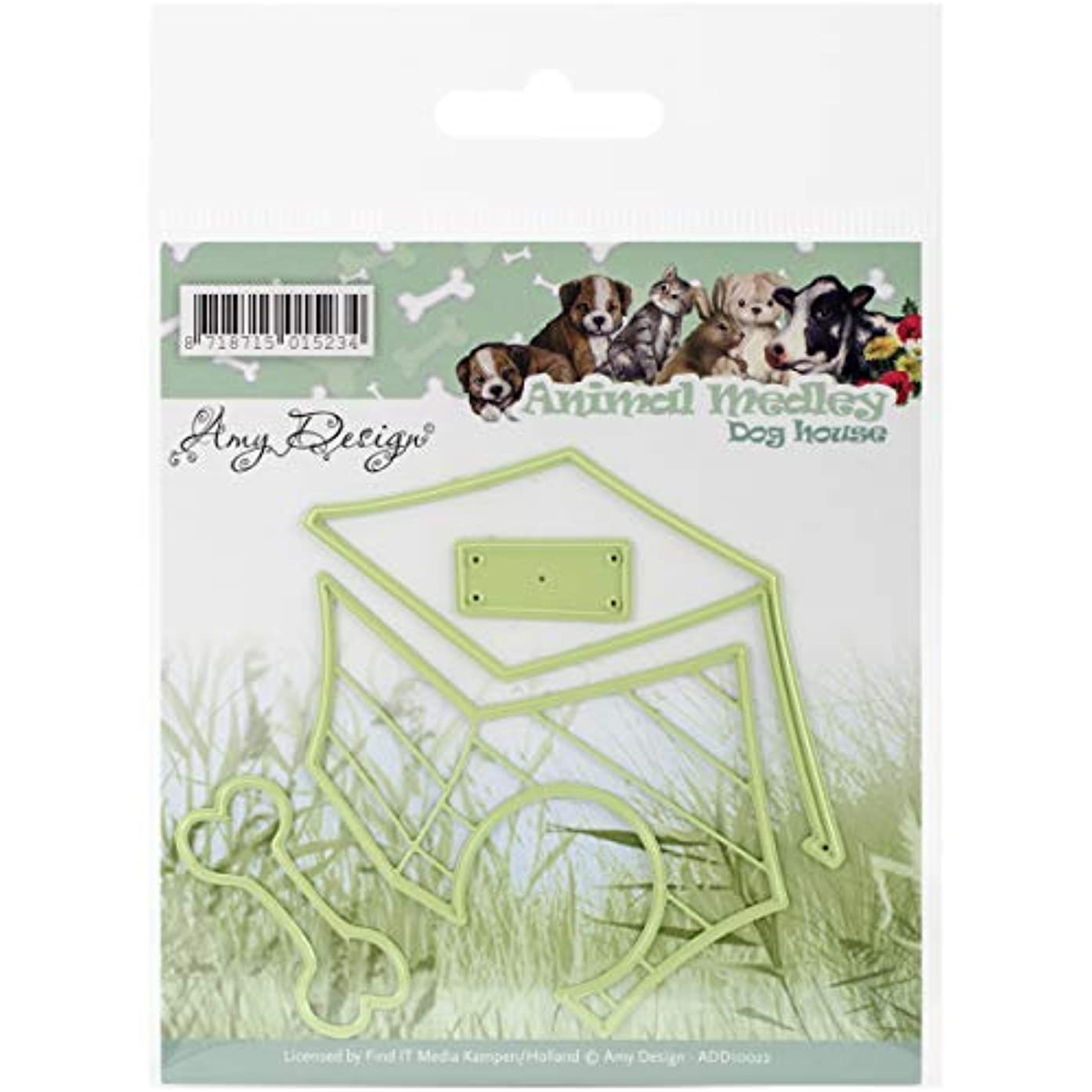 Find It Trading Amy Design Animal Medley Die Dog House