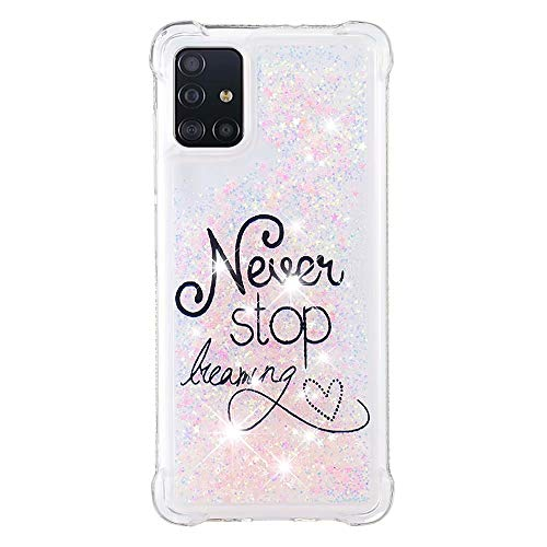 Lvnarery iPhone 11 Pro Case Glitter Creative Flowing Liquid Floating Phone Case Soft Silicone Cover Bling Shiny Crystal Clear Bumper for iPhone 11 Pro,Letter
