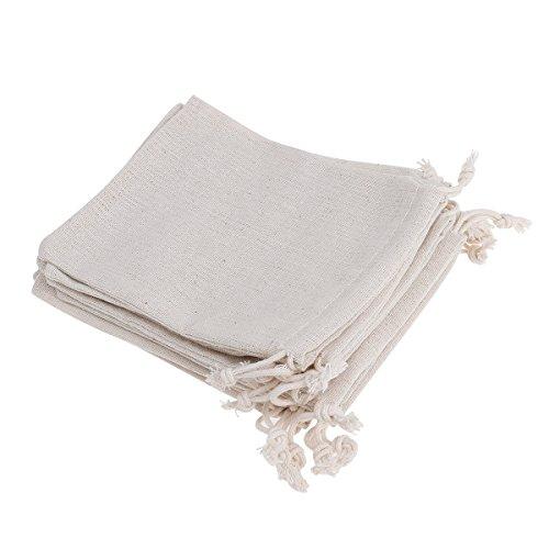 Sachets cadeau en jute avec cordons, pour bijoux ou dragées (12,7 x 17,8 cm, lot de 10)