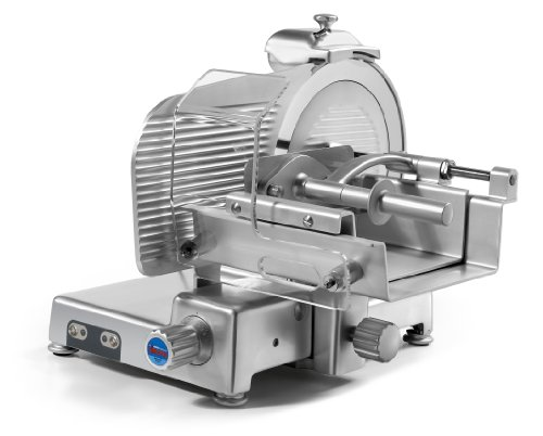 Sirman Mantegna 350 VCS Top Heavy Duty Commercial Fresh Meat Slicer, 14-Inch,Silver