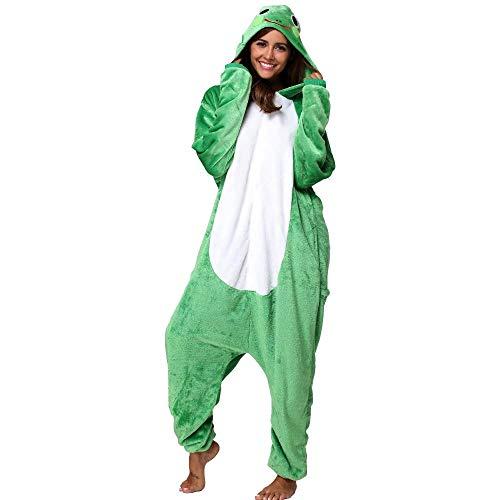 Pijama Animal Rana Mujer Hombre Adulto Unisexo Disfraces Animal Carnaval Halloween Cosplay Cómodo Suave