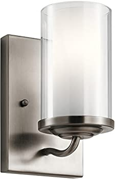 Kichler Lorin 1-Light 60W Classic Pewter Transitional Wall Sconce