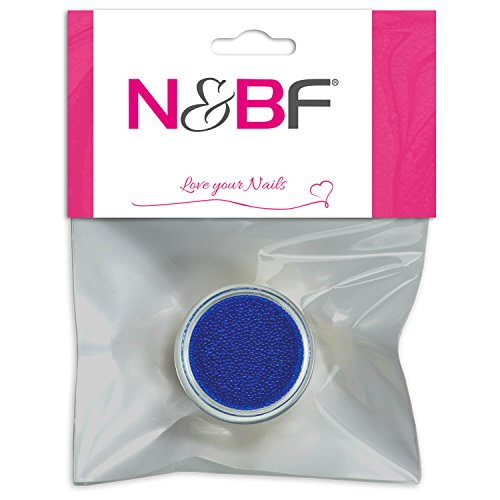 Nail Art MicroBeads Blue pour Full Cover Model couches & individuelle Nail Art Design Motif
