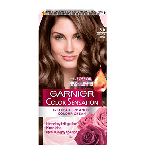 Garnier Color Sensation Brown Hair Dye Permanent 5.0 Luminous Brown