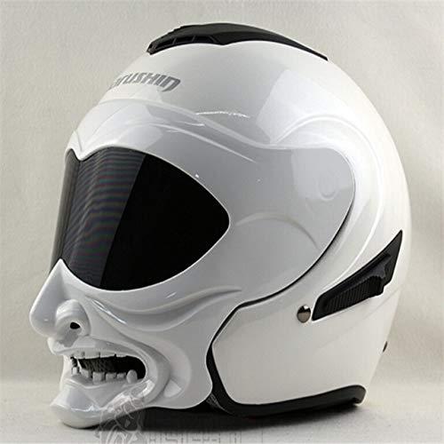 MYSdd Integralhelm Doppelscheibe offener Motorradhelm Oldtimer Motorradhelm Casco Capacete Casque Racing Motocross Helm - 2 X XL